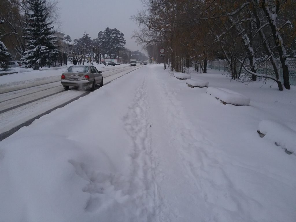 Ангарск снег