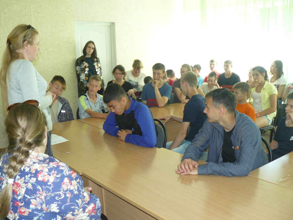 антинаркотическая лекция в детском оздоровительном лагере «Галактика»