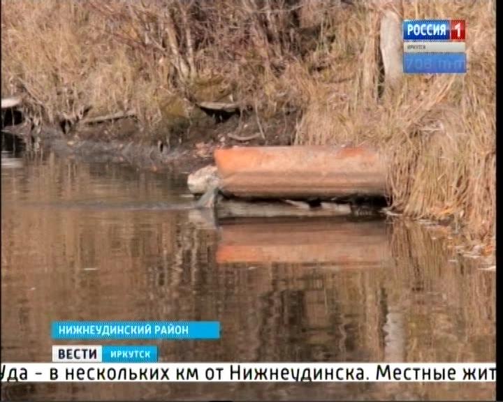 Фекальные воды стекают в реку Уду