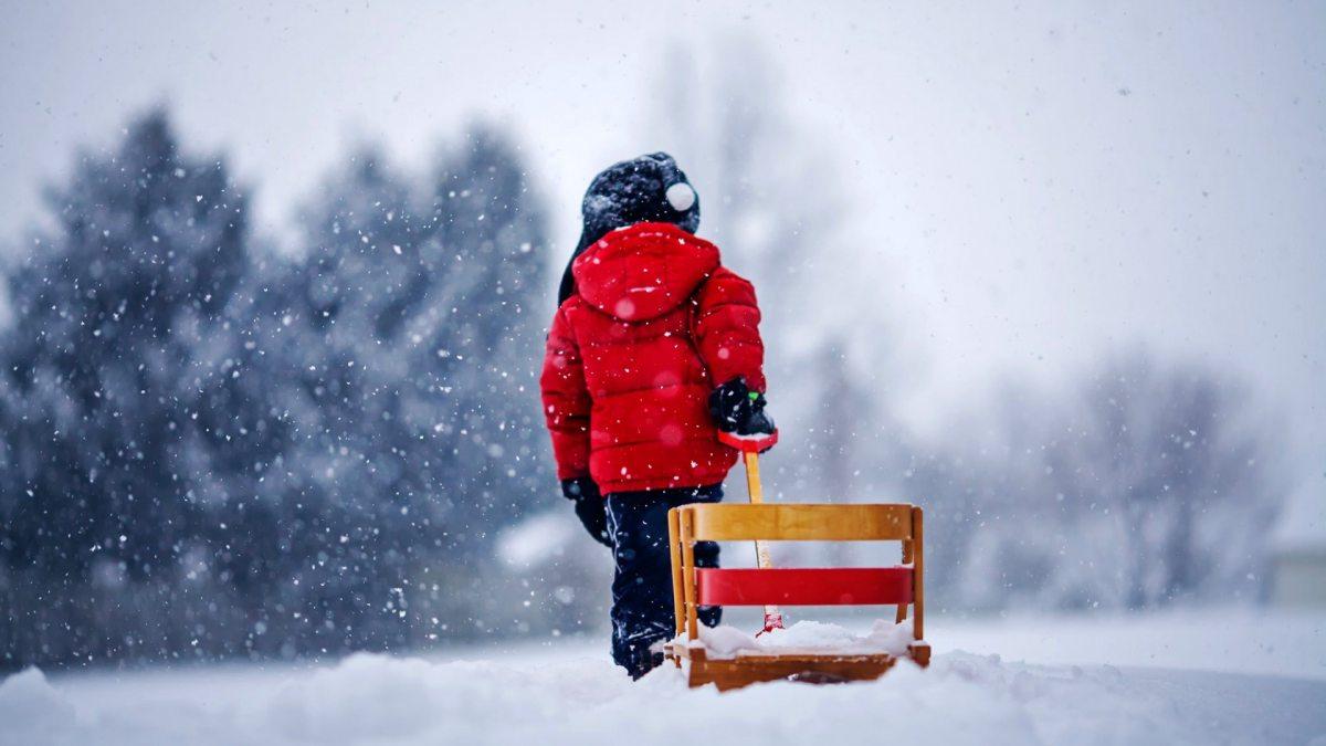 Дети Снег Зима