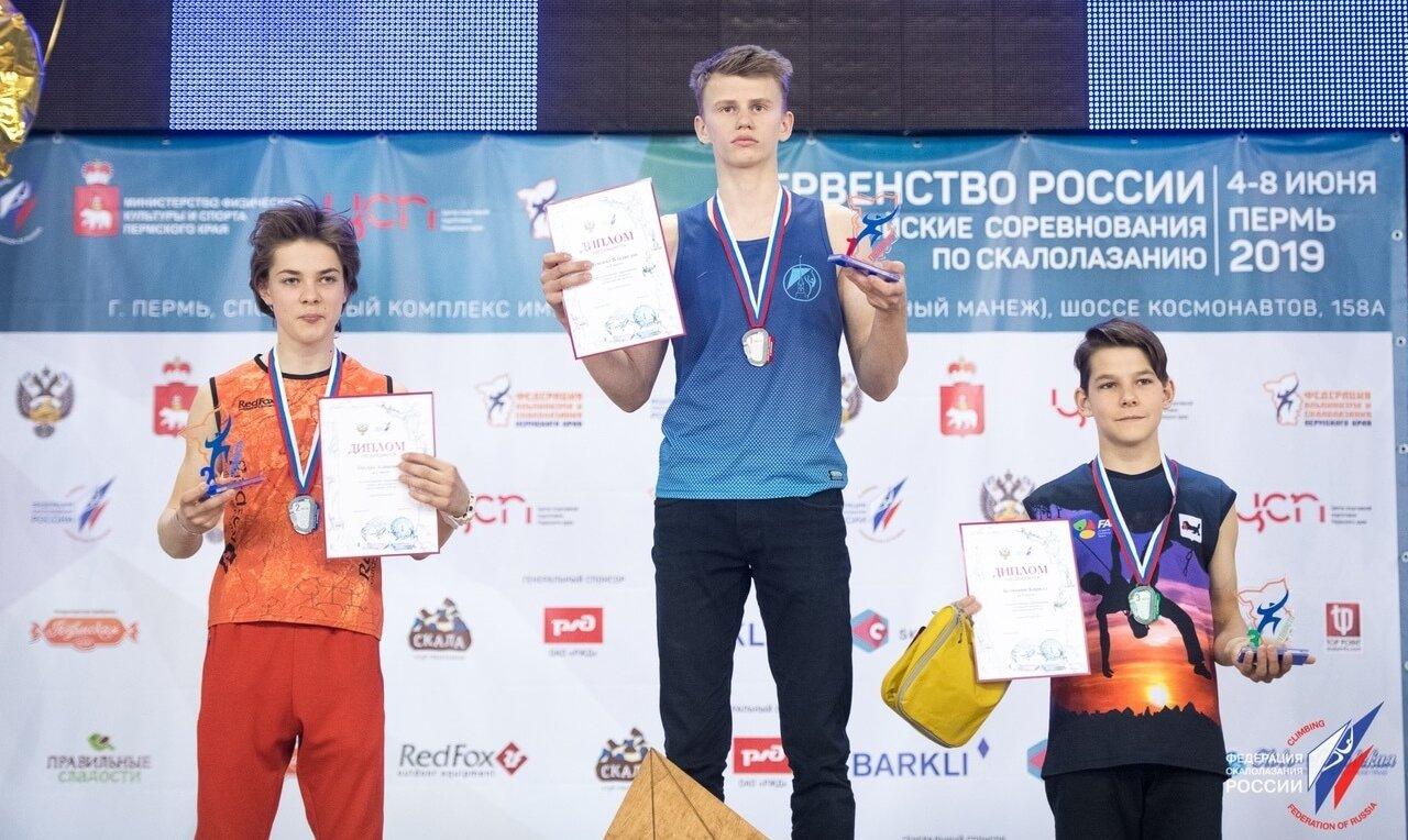 Скалолазание Призеры Кирилл Белянкин