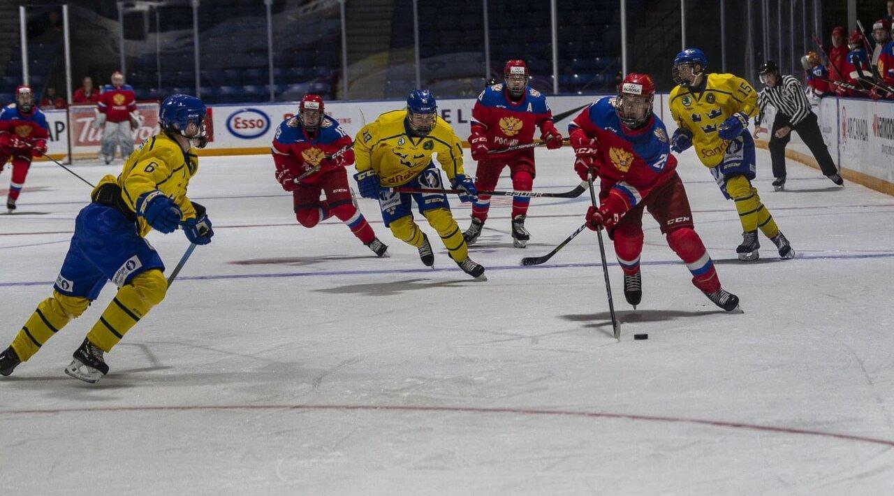 Сборная России Сборная Швеции Хоккей U17