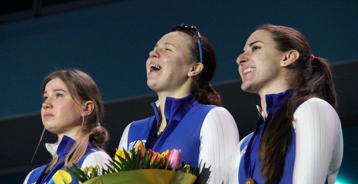 Конькобежный спорт ЧЕ Ольга Фаткулина Ангелина Голикова Дарья Качанова