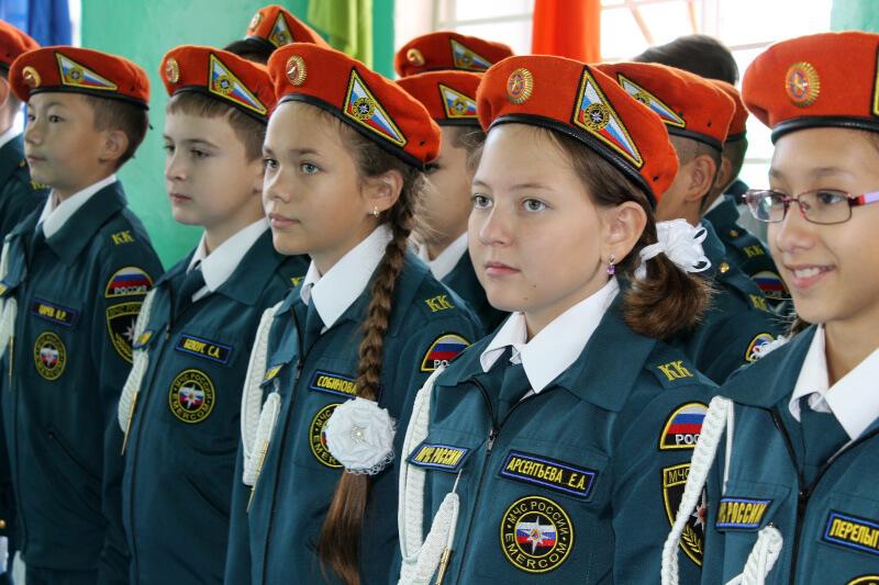 Первые в Иркутском районе кадетские классы МЧС открыли в школе села Хомутово