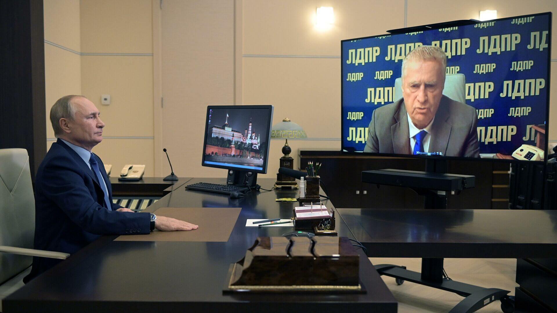 Путин обсудил итоги парламентских выборов с Жириновским